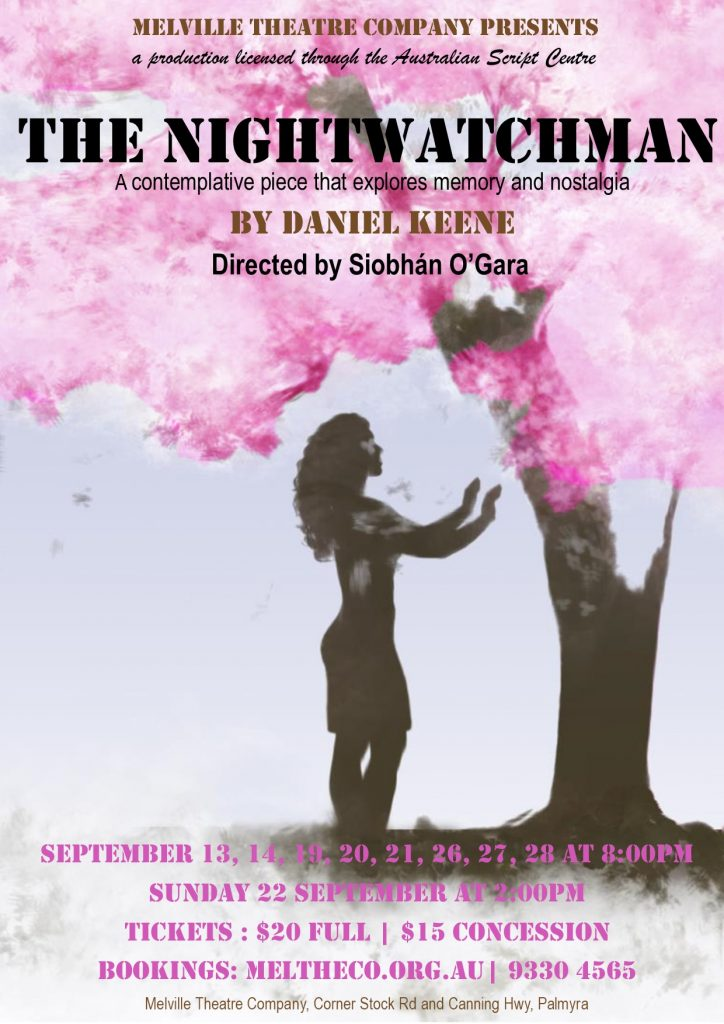 The poster for The Nightwatchman - the next play at Melville Theatre